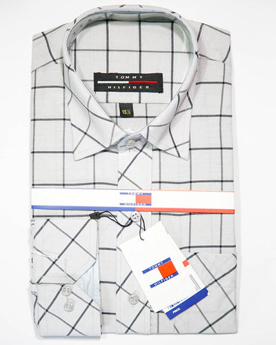 Mens Check Casual Dress Shirts By Tommy Hilfiger