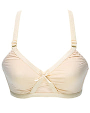 Cotton Plain Non Padded - Non Wired Basic Bra - Skin