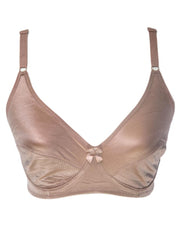 Women's Brown Silk Bra - Non Padded Bra - 708