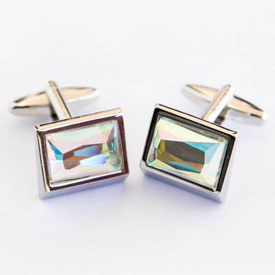 Multi Shade Stone Golden Cufflinks For Man  – Best Choice For Mans