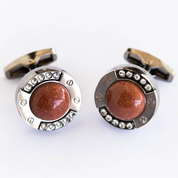 Brown Stone Cufflinks For Man  – Best Choice For Mans