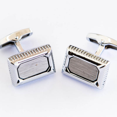 Pure Steel Square Cufflinks For Man