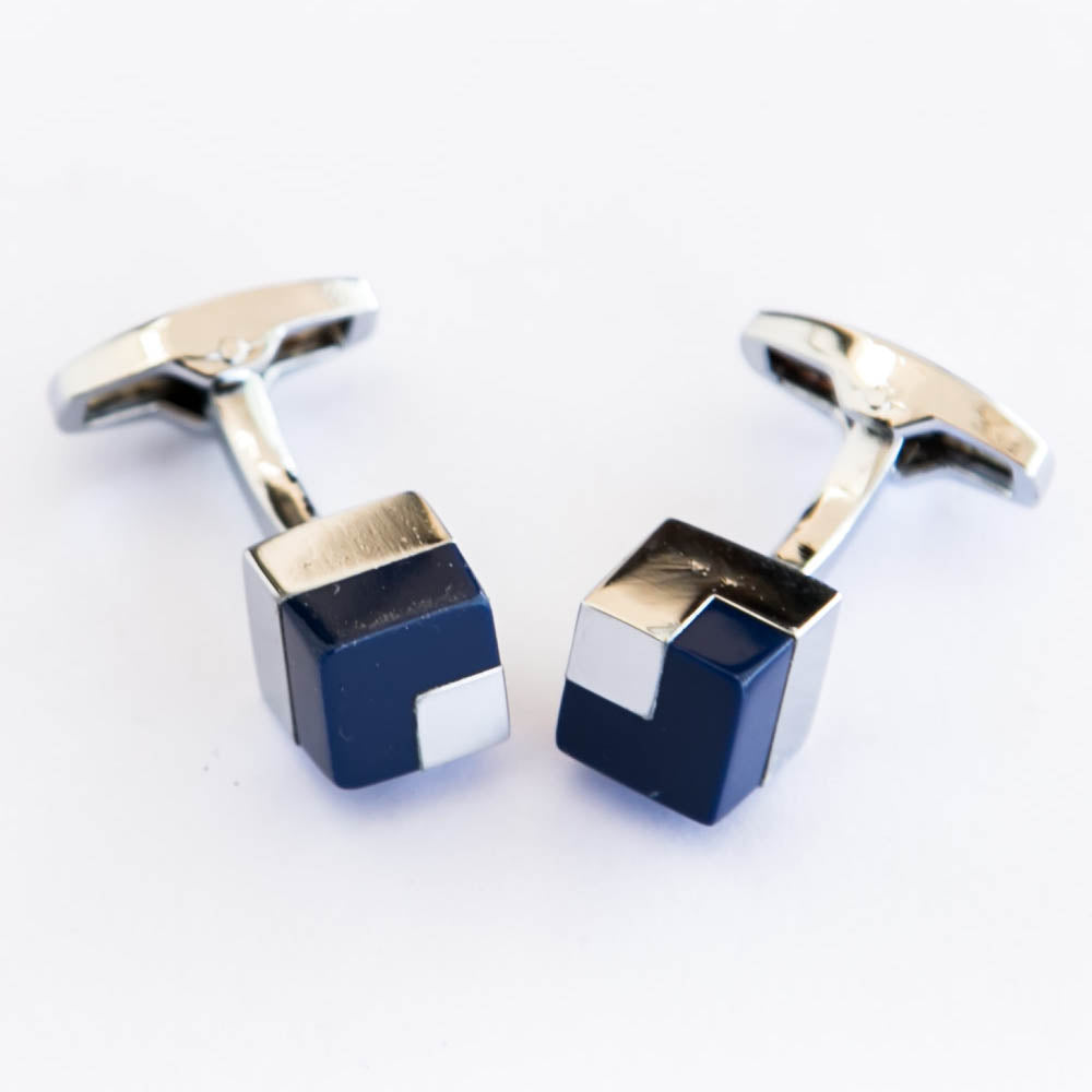 Antique Designed Blue Cufflinks For Man