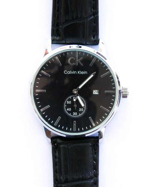 Ck Mens Watches With Date & Time in Black Dial,Belt - Calvin Klein