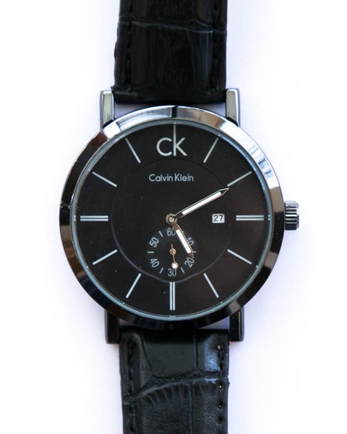 Ck Watches For Mens With Date & Time in Black Dial & Belt - Calvin Klein