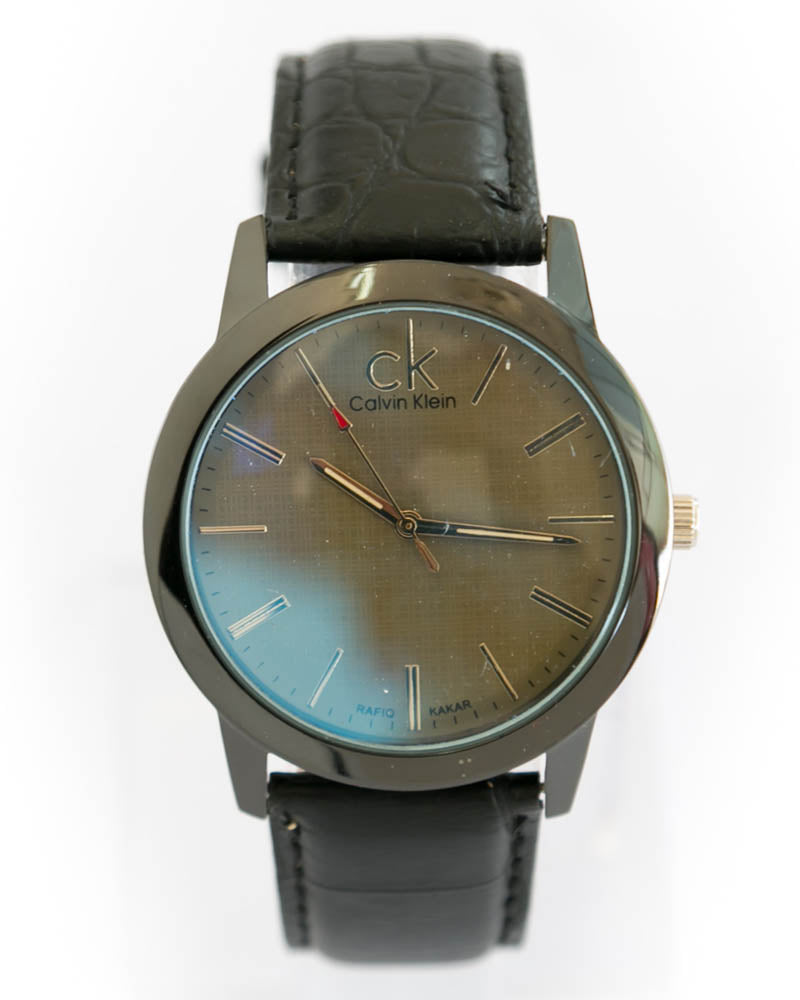 CK Man's Watch in Brown Dial & Belt - Calvin Klein