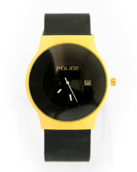 Police Stylish Golden Watch Black Dial Black Belt
