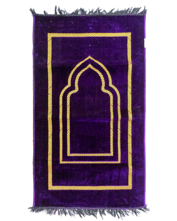 Janamaz - Purple Velvet Janamaz P103 - Export Quality