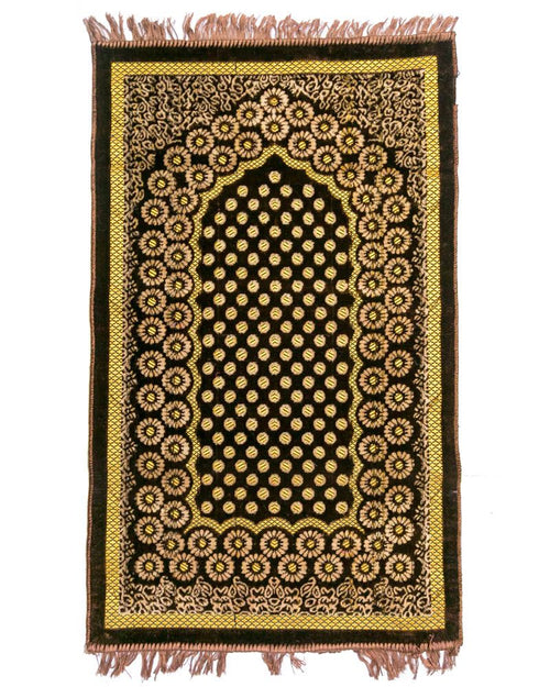 Janamaz - Brown Velvet Janamaz B109 - Export Quality