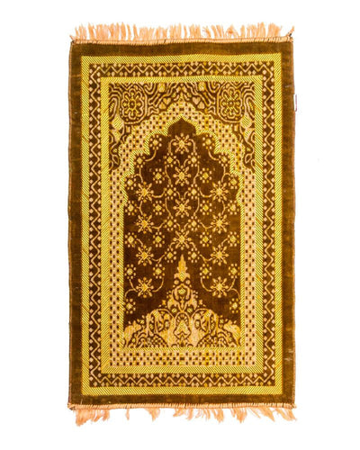 Janamaz - Brown Velvet Janamaz BR110 - Export Quality