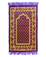 Janamaz - Purple Velvet Janamaz P106 - Export Quality