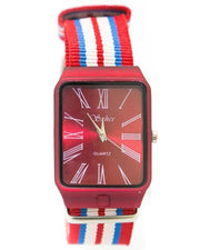 Stylish Countries Flag Coloured Belt Watches For Men - Sehar Watch