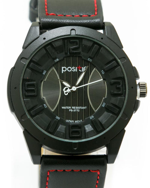 Stylish Men's Watch Black Belt For Men - By Positif