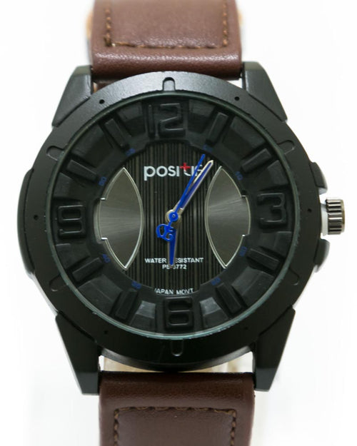Stylish Men's Watch Dark Brown Belt For Men - By Positif