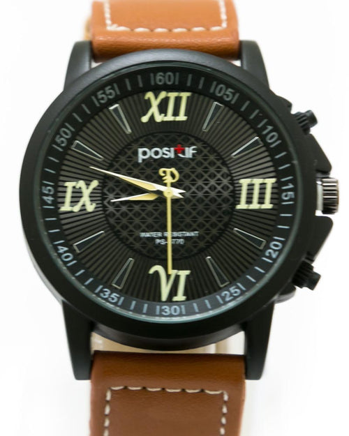 Stylish Watch For Men Light Brown Belt For Men - By Positif