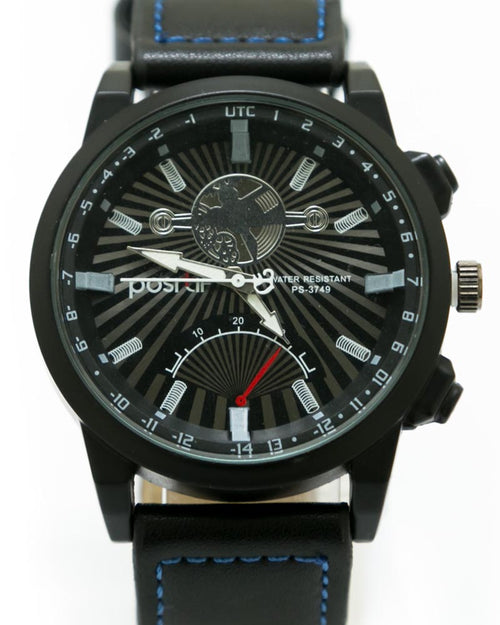 Stylish Watch For Men's Black Belt & Black Dial - By Positif