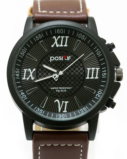 Stylish Watch For Men Dark Brown Belt For Men - By Positif