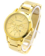 Armani Men Watch – Armani Watch Golden Chain With Golden Dial
