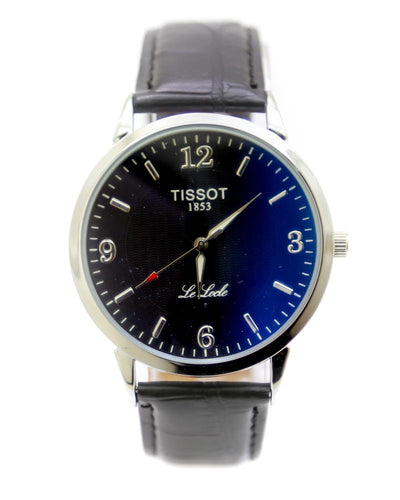 Tissot Men Watch – Tissot Watch Black Belt With Silver Dial