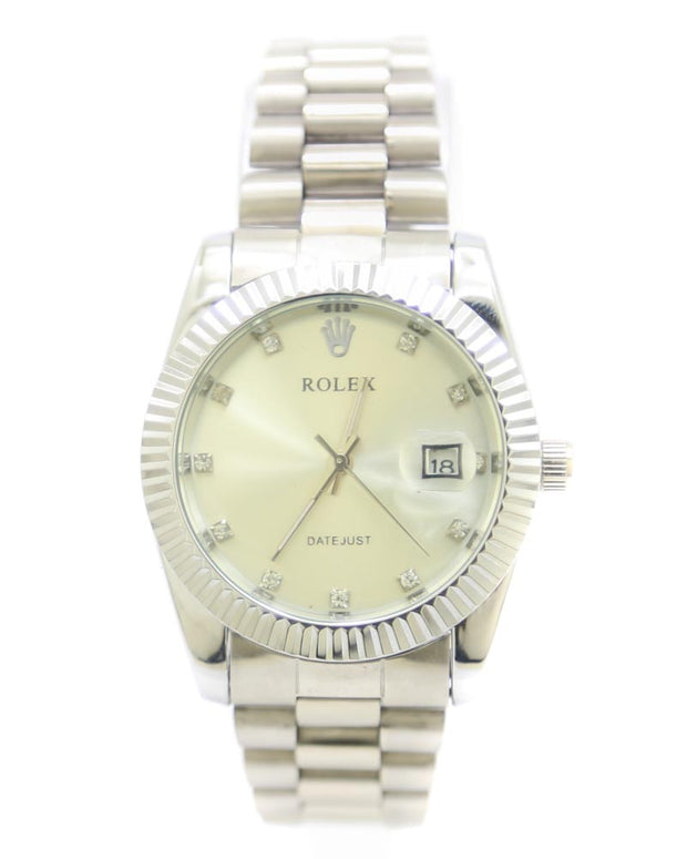 Rolex Men Watch – Rolex Watch Silver Chain With Silver Dial