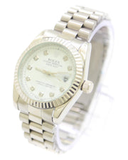 Rolex Men Watch – Rolex Watch Silver Chain With White Dial