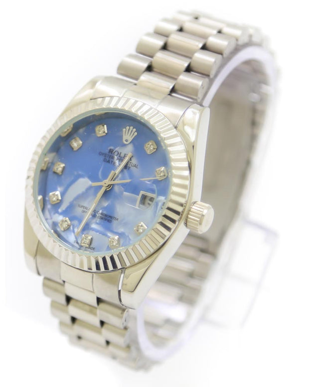 Mens Watches Online Shopping in Pakistan. For Rs. Rs.1399.00, ID - DK301189, Brand = Rolex, Rolex Men Watch – Rolex Men Diamond Oyster Silver Chain With Sky Blue Dial in Karachi, Lahore, Islamabad, Pakistan, Online Shopping in Pakistan, 2nd Copy, Accessories, Brand_Rolex, Chain Belt, Collection_Replica, Condition_2nd Copy, Content_Family, Gender_Men, Men, Round Dial Watches, Style_Chain Belt Watches, Style_Round Dial Watches, Type_Accessories, Type_Men, Type_Watches, Watches, diKHAWA Fashion - 2020 Online Shopping in Pakistan