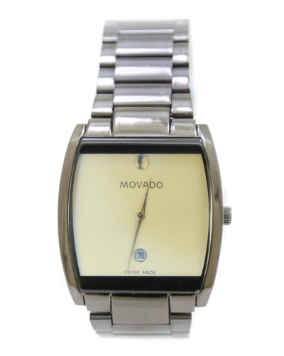 Movado Men Watch – Movado Watch Black Chain With Yellow Dial