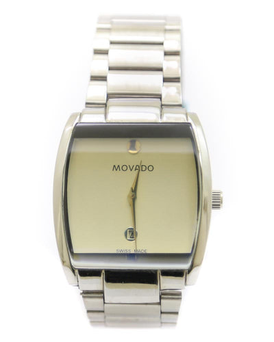 Movado Men Watch – Movado Watch Silver Chain With Yellow Dial