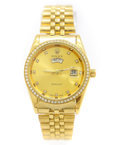 Rolex Men Watch – Men Date Just Swiss Golden Watch