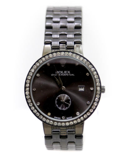 Rolex Men Watch – Mens Oyster Perpetual Black Watch