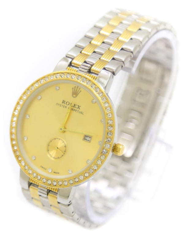 Mens Watches Online Shopping in Pakistan. For Rs. Rs.1399.00, ID - DK301212, Brand = Rolex, Rolex Men Watch – Mens Oyster Perpetual Silver & Golden Chain Watch in Karachi, Lahore, Islamabad, Pakistan, Online Shopping in Pakistan, 2nd Copy, Accessories, Brand_Rolex, Chain Belt, Clearance Sale, Men, Round Dial Watches, Style_2nd Copy, Style_Chain Belt Watches, Style_Replica, Style_Round Dial Watches, Type_Accessories, Type_Men, Type_Watches, Watches, diKHAWA Fashion - 2020 Online Shopping in Pakistan