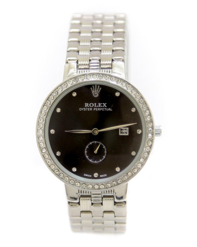 Rolex Men Watch – Men Oyster Perpetual Silver Chain Watch