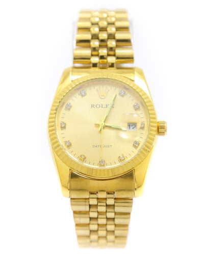 Rolex Men Watch – Men Oyster Perpetual Golden Chain Watch