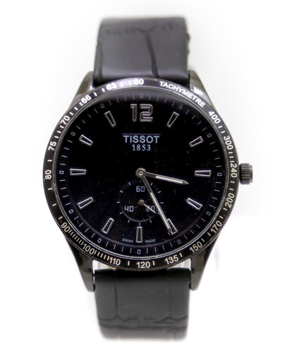 Tissot Men Watch – Tissot Watch Black Belt With Black Dial