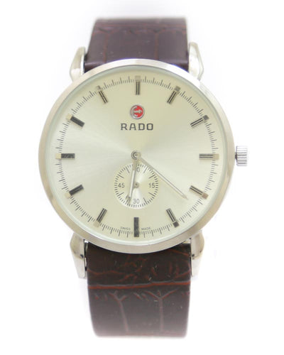 Rado Men Watch – Rado Watch Brown Belt With Silver Dial