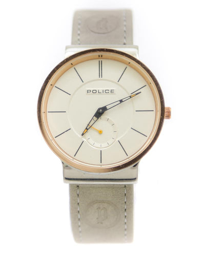 Police Men Watch – Police Watch Grey Belt With Golden Dial