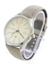 Ck - Calvin Klein Men Watch – Ck Watch Grey Belt With White Dial