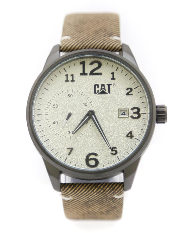 CAT Men Watch – CAT Watch Brown Belt With Black Dial
