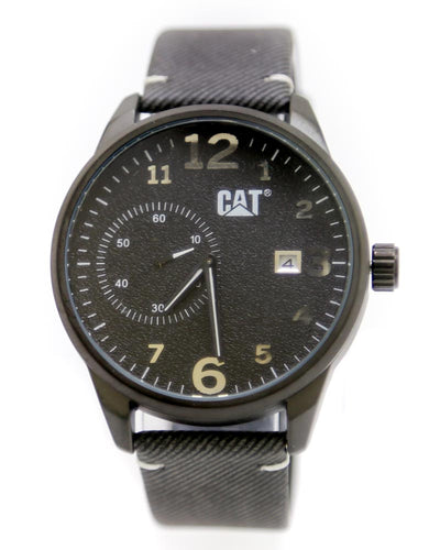 CAT Men Watch – CAT Watch Black Belt With Black Dial