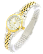 Rolex Ladies Watch – Gold & Silver Chain With Silver Dial