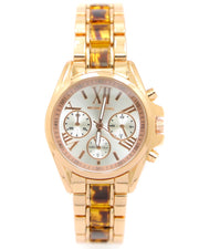 Michael Kors Ladies Bridal Watch – Rose Gold Chain With Silver Dial MK-104