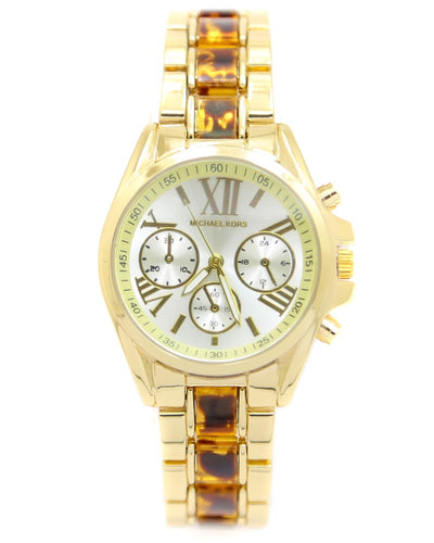 Michael Kors Ladies Bridal Watch – Golden Chain With Silver Dial MK-116