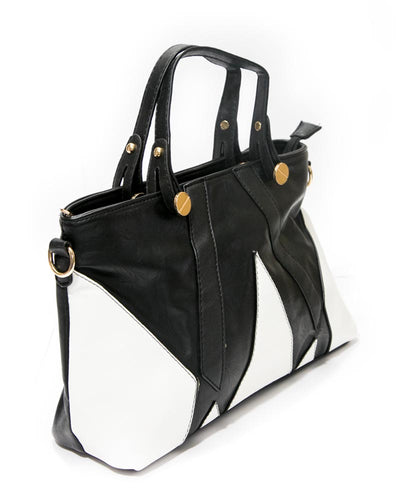 White & Black Ladies Handbags FB-3023 - Stylish Shoulder Bags