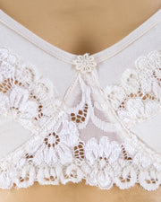 Pack of 2 - Madam Bra - BOE - Non Padded, Non Wired Bra, Soft Jersey Cotton Lace Bra