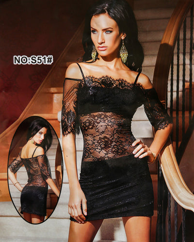 Romantic Sexy Net Short Nighty - Babydoll Bridal Sexy Nighty - S51