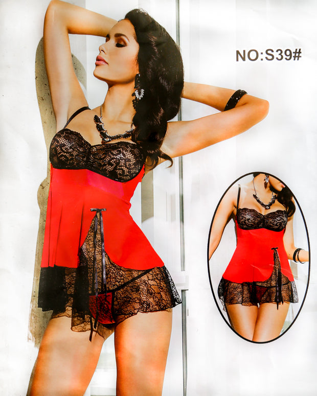 Romantic Silk Short Nighty For Women - S39