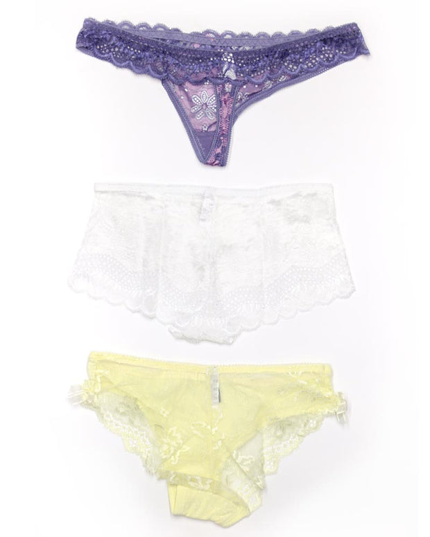 Pack of 3 Sexy Net Panty - Mix Colors & Designs
