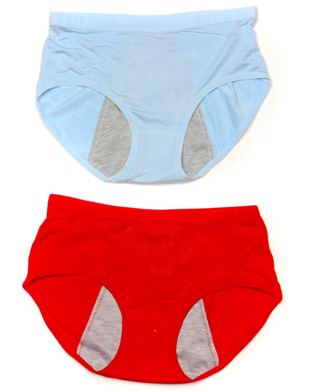 Pack Of 2 - Girls Briefs Cotton Periods Panty - Mix Colors