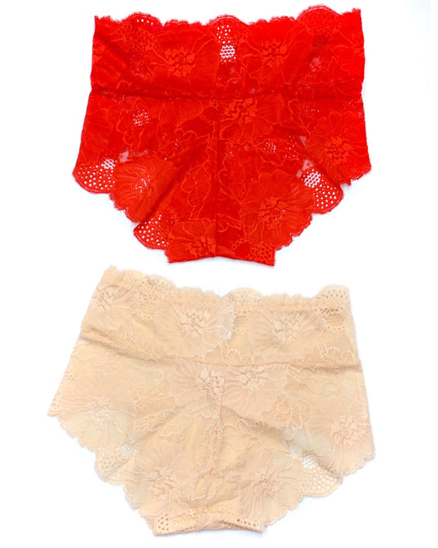 Pack of 2 Sexy Net Panty - SH-640 - Sisterhood - Black White Red Skin