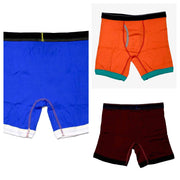 Pack of 3 - Mascot Pure Cotton Mens Boxers - Colourful